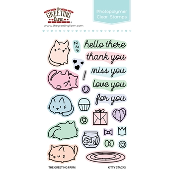 The Greeting Farm KITTY STACKS Clear Stamps TGF308