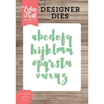 Echo Park EVA LOWERCASE ALPHABET Die Set EPPDIE718