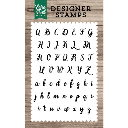 Echo Park Charlotte Alphabet Clear Stamp Set