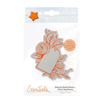Tonic FLORAL TAG Delicate Detail Cling Stamp 1337E