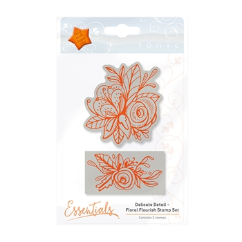 Tonic FLORAL FLOURISH Delicate Detail Cling Stamp Set 1338E