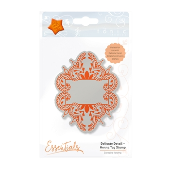 Tonic HENNA TAG Delicate Detail Cling Stamp 1339E