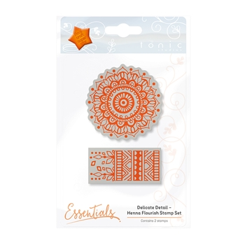 Tonic HENNA FLOURISH Delicate Detail Cling Stamp 1340E