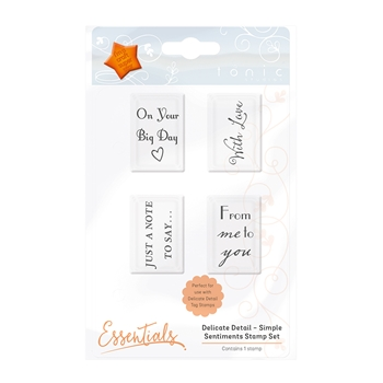 Tonic SIMPLE SENTIMENTS Delicate Detail Clear Stamp Set 1345E