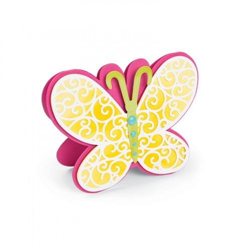 Sizzix Framelits BUTTERFLY FOLD ITS Wafer Thin Die Set 661842 Preview Image