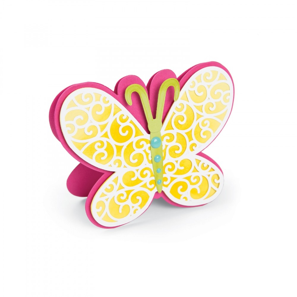 Sizzix Framelits BUTTERFLY FOLD ITS Wafer Thin Die Set 661842 zoom image