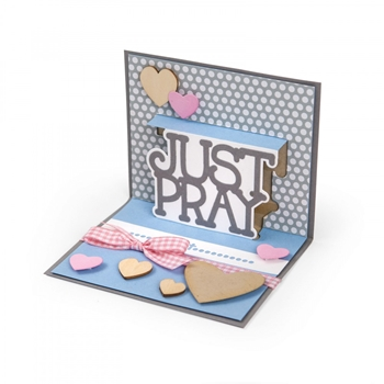 Sizzix Framelits JUST PRAY DROP INS Wafer Thin Die Set 661848