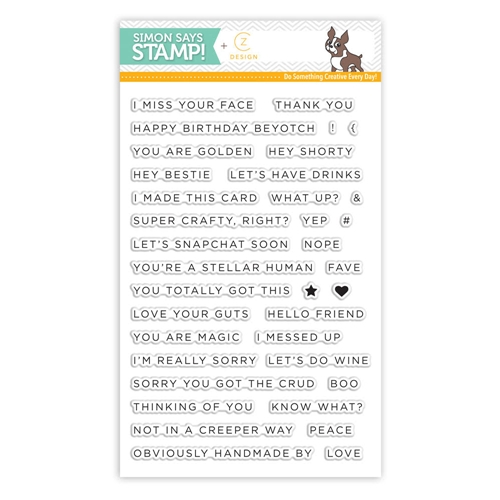 CZ Design Clear Stamps SIMPLE SENTIMENTS No. 1 CZ01 Preview Image