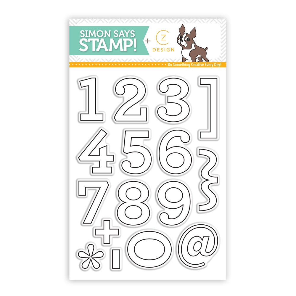 CZ Design Clear Stamps ARCHIE NUMBERS CZ04 zoom image