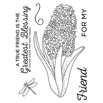 Technique Tuesday HYACINTH Greenhouse Society Clear Stamps 02318