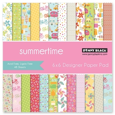 Penny Black SUMMERTIME Designer 6 X 6 Paper Pad 80-016 Preview Image