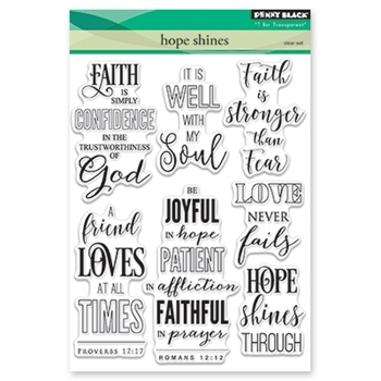 Penny Black HOPE SHINES Clear Stamp Set 30-432