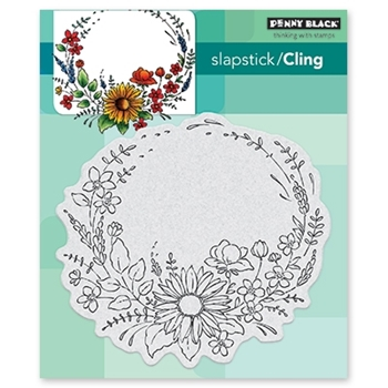 Penny Black Cling Stamp FLOWER EMBRACE 40-542