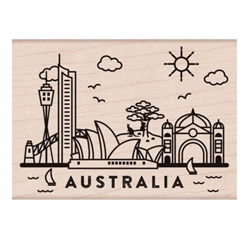 Hero Arts Rubber Stamps DESTINATION AUSTRALIA H6239