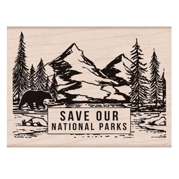 Hero Arts Rubber Stamp SAVE OUR NATIONAL PARKS H6237