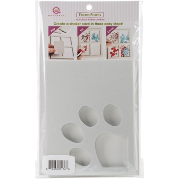 Queen & Company PAW PRINT Foam Front Card Shaker Kit FF1136