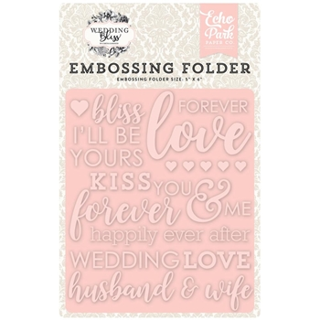 Echo Park FOREVER LOVE Embossing Folder WB129032