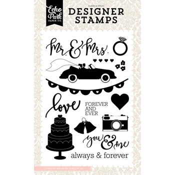 Echo Park MR. & MRS. Clear Stamps WB129046