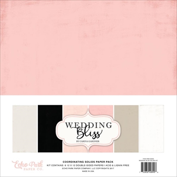 Echo Park WEDDING BLISS 12 x 12 Double Sided Solids Paper Pack WB129060