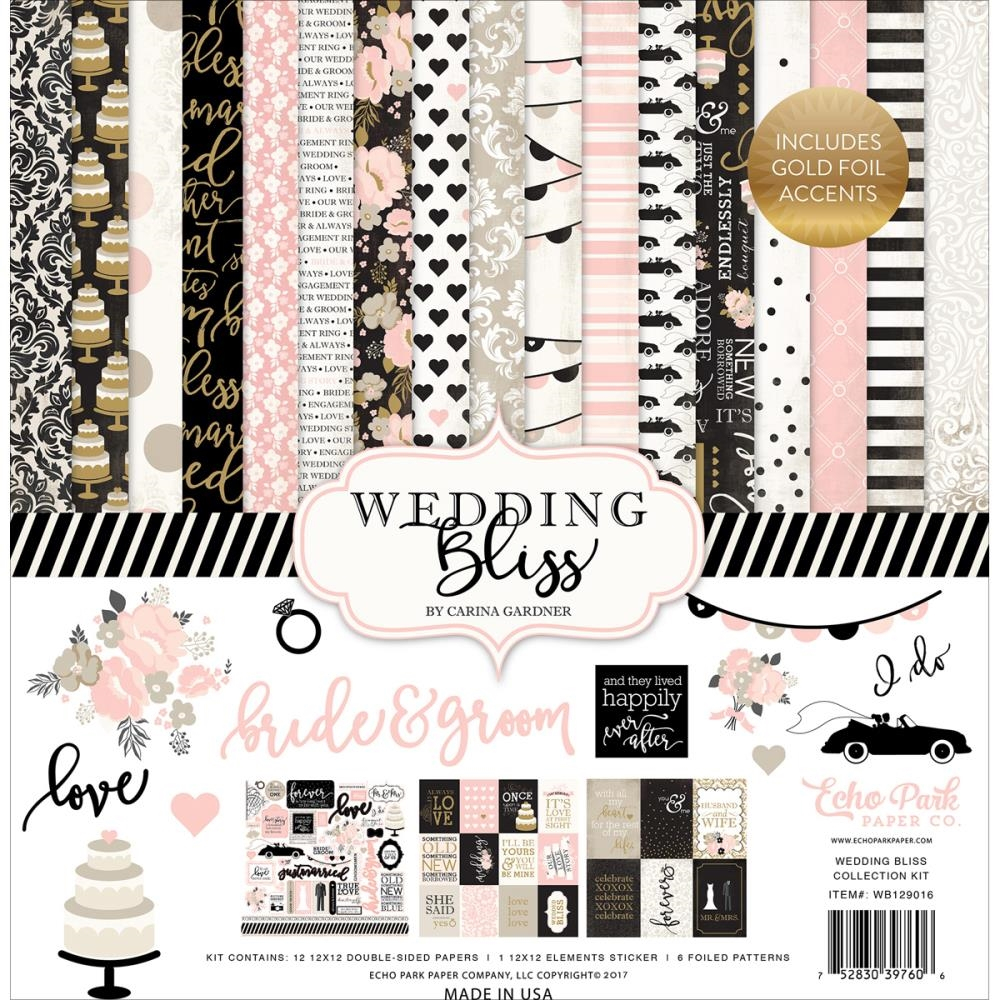 Echo Park WEDDING BLISS 12 x 12 Collection Kit WB129016 zoom image