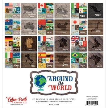 Echo Park AROUND THE WORLD 12 x 12 Collection Kit ATR128016