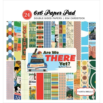 Carta Bella ARE WE THERE YET? 6 x 6 Paper Pad CBAW67015