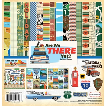 Carta Bella ARE WE THERE YET? 12 x 12 Collection Kit CBAW67016