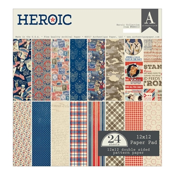 Authentique HEROIC 12 x 12 Paper Pad HER012