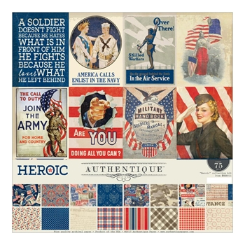 Authentique HEROIC 12 x 12 Collection Kit HER011