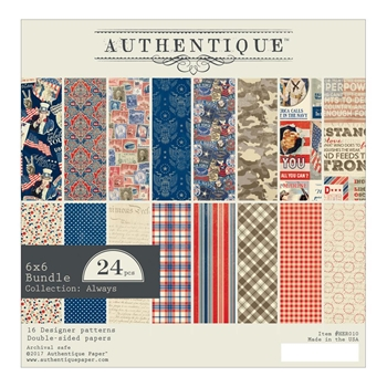 Authentique 6 x 6 HEROIC Paper Pad HER010