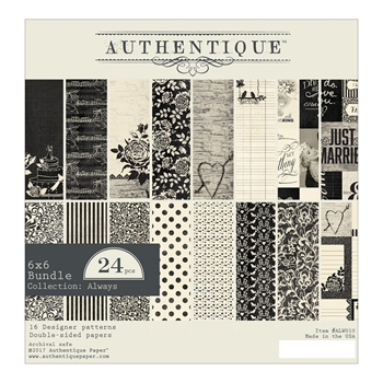 Authentique 6 x 6 ALWAYS Paper Pad ALW010