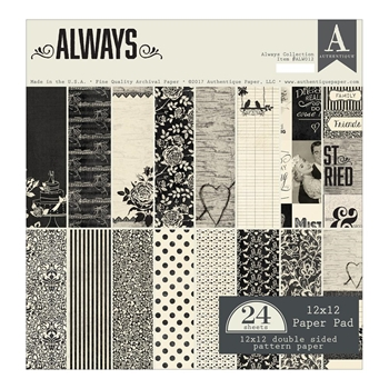 Authentique ALWAYS 12 x 12 Paper Pad ALW012