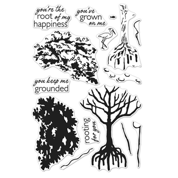 Hero Arts Clear Stamps Color Layering MANGROVE CM166