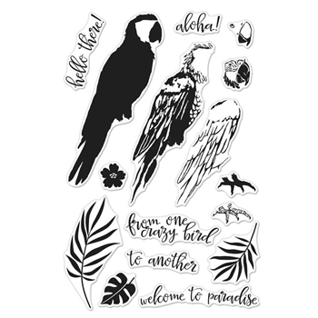 Hero Arts Clear Stamps Color Layering PARROT CM164