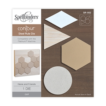 SR-002 Spellbinders HEXIE AND FRIENDS Contour Steel Rule Die