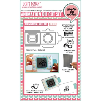 Uchi's Design ENVELOPE 3X4 Animation Die And Stamp Kit DC103