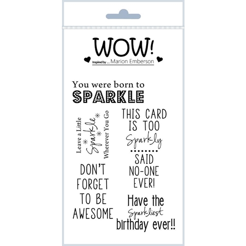 WOW Stamps for Embossing BORN TO SPARKLE Clear Stamp Set STAMPSET47 Preview Image