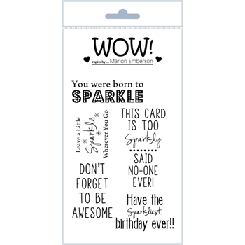 WOW Stamps for Embossing BORN TO SPARKLE Clear Stamp Set STAMPSET47