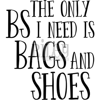 Riley and Company Funny Bones BAGS AND SHOES Cling Rubber Stamp RWD-580