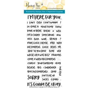 Honey Bee BLAH BLAH BLAH Clear Stamp Set HBST60