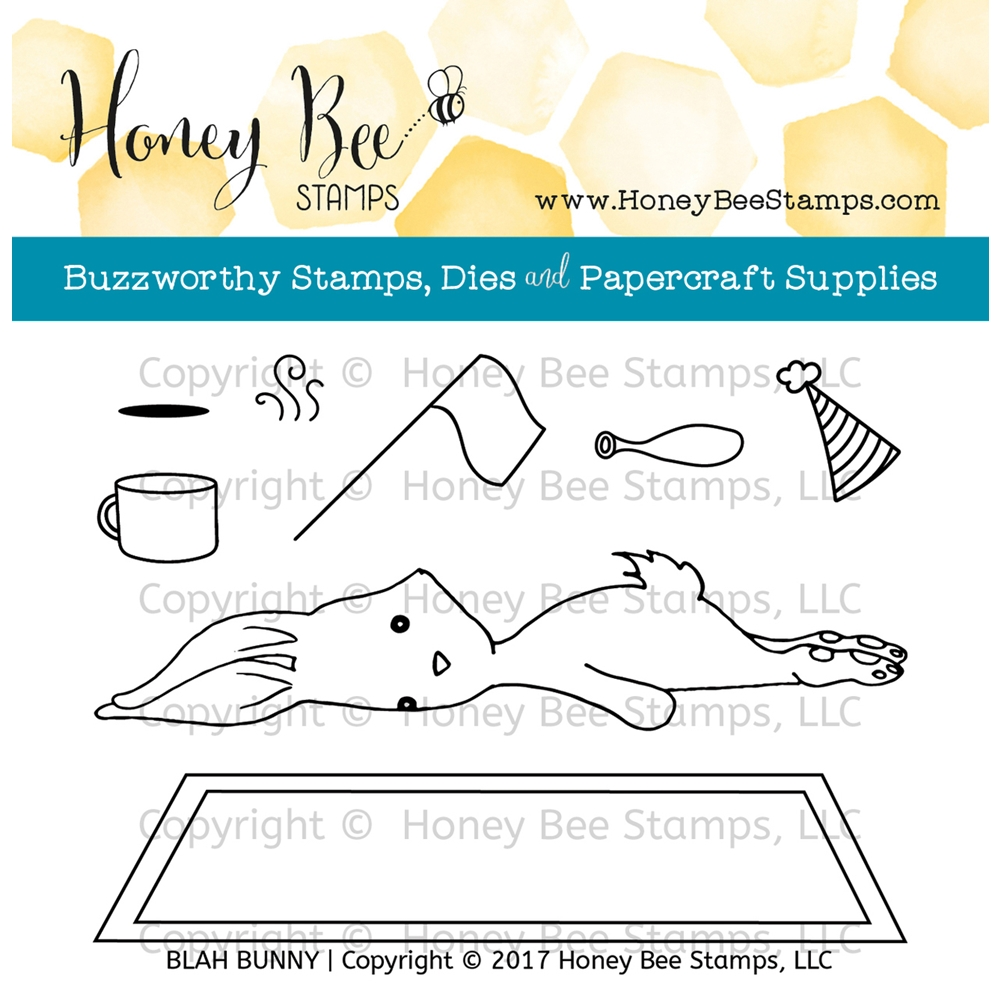 Honey Bee BLAH BUNNY Clear Stamp Set HBST-059 zoom image