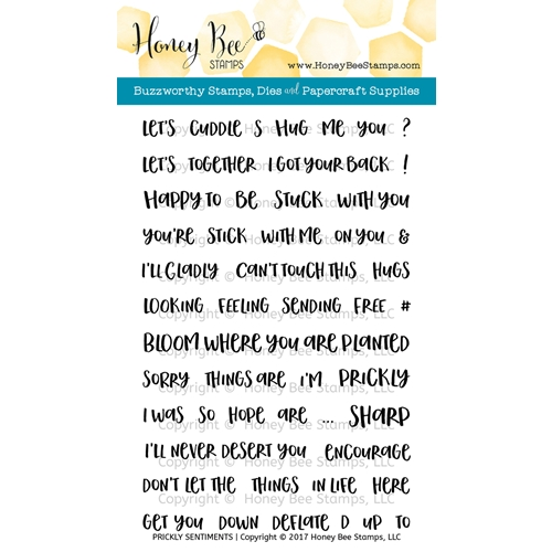 Honey Bee PRICKLY SENTIMENTS Clear Stamp Set HBST-058 Preview Image