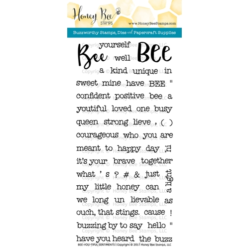 Honey Bee BEE-YOU-TIFUL SENTIMENTS Clear Stamp Set HBST56 Preview Image