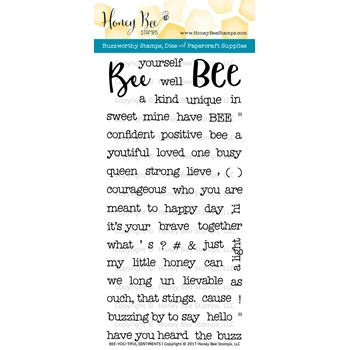 Honey Bee BEE-YOU-TIFUL SENTIMENTS Clear Stamp Set HBST56