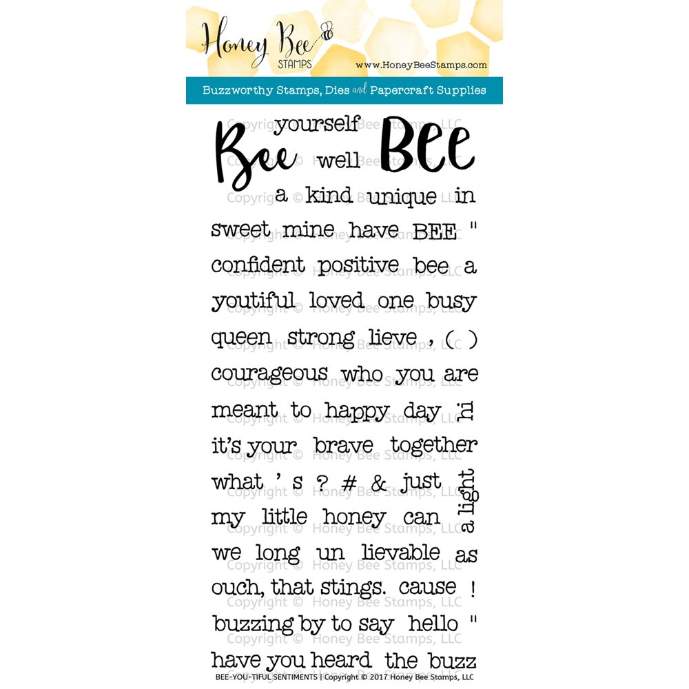 Honey Bee BEE-YOU-TIFUL SENTIMENTS Clear Stamp Set HBST56 zoom image