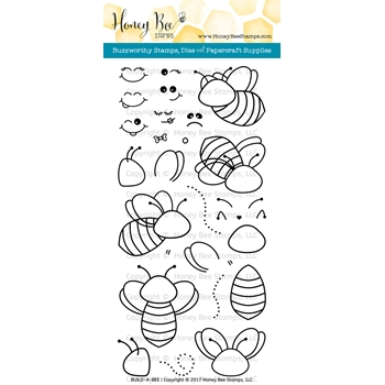 Honey Bee BUILD-A-BEE Clear Stamp Set HBST55