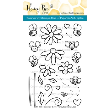 Honey Bee BUSY BEES Clear Stamp Set HBST54