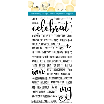 Honey Bee CELEBRATION SENTIMENTS Clear Stamp Set HBST53