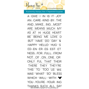 Honey Bee SIMPLE SENTIMENTS Clear Stamp Set HBST51