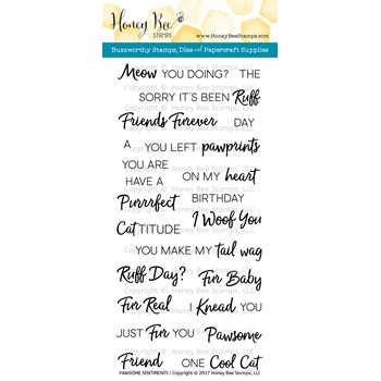 Honey Bee PAWSOME SENTIMENTS Clear Stamp Set HBST50